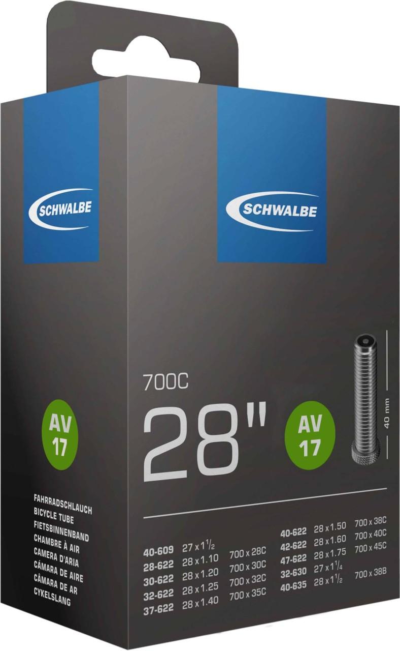 """Schwalbe Fahrradschlauch AV Ventil Nr. 17 (28""""/700C)"""