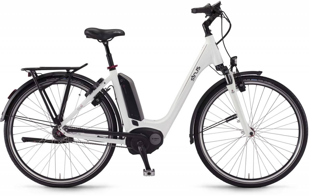 """Sinus Tria N7f 400Wh 26"""" weiß 2017 - Tiefeinsteiger E-Bike Trekkingrad"""