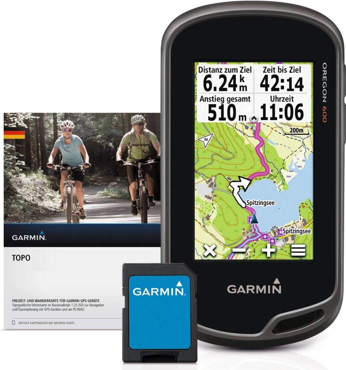 Garmin Oregon® 600 + Topo Deutschland V6 PRO Bundle microSD