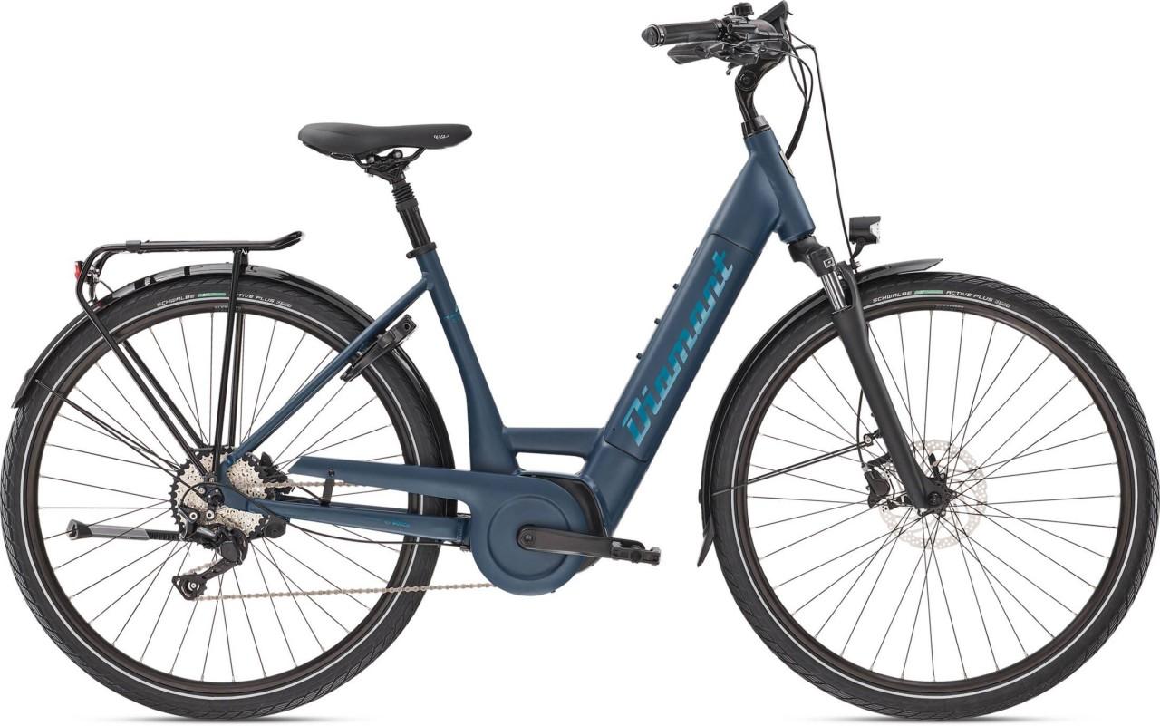 Diamant Mandara Deluxe+ TIE Tansanitblau 2020 - E-Bike Trekkingrad Tiefeinsteiger