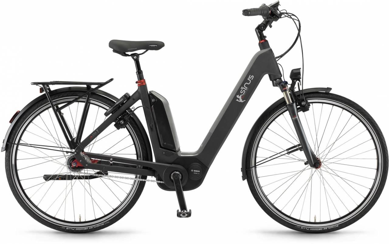"Sinus Ena7 400Wh 28"" RT mysterypearl matt 2017 - Tiefeinsteiger E-Bike Trekkingrad"