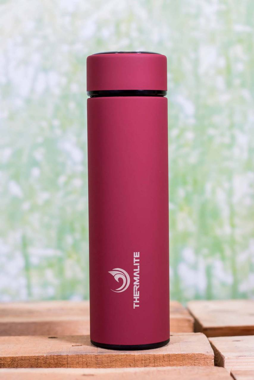 Thermalite Isolierflasche 500ml in einem edlen Bordeauxrot