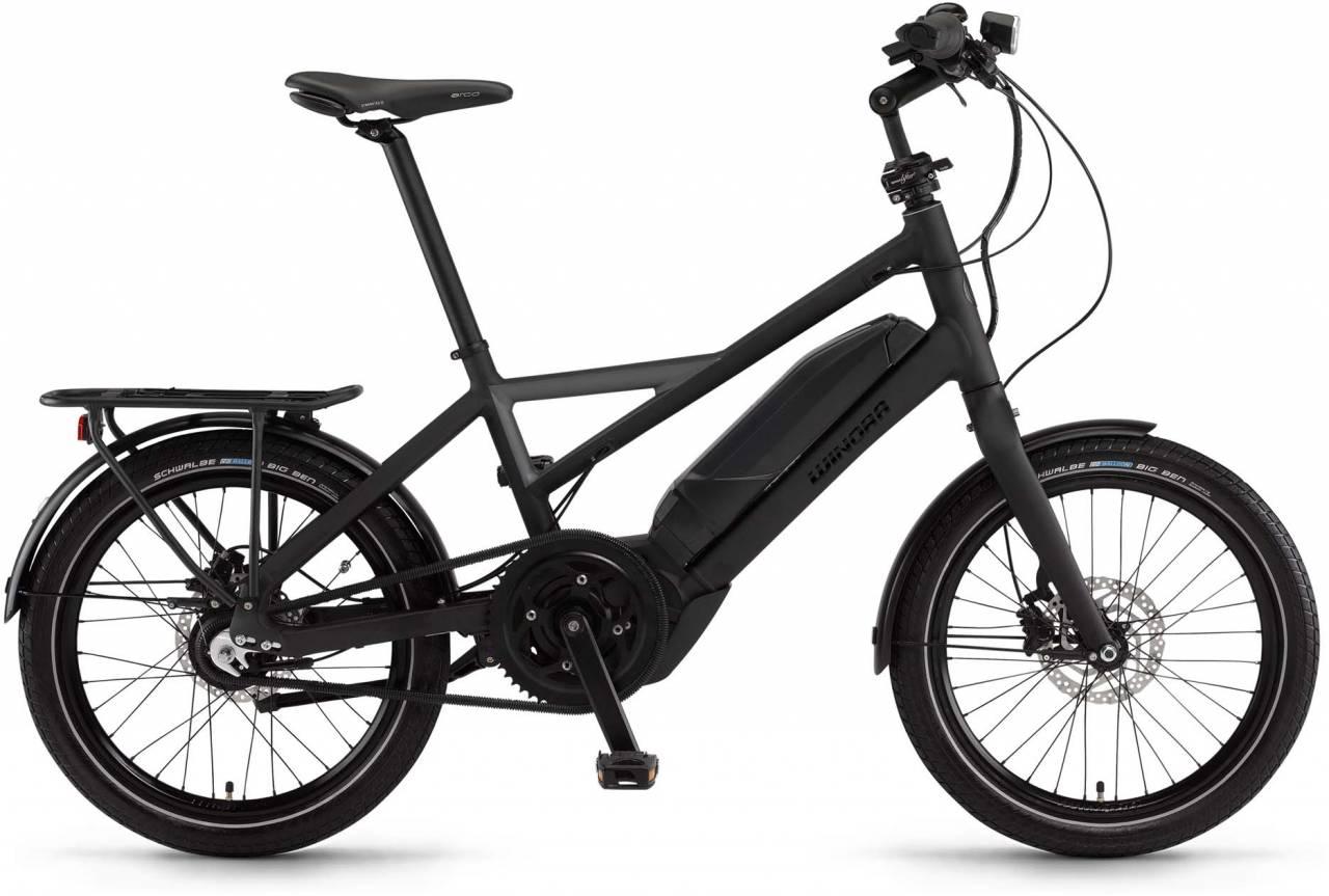 "Winora radius tour 400Wh 20"" schwarz/schiefer matt 2017 - Herren E-Bike Fitnessrad"