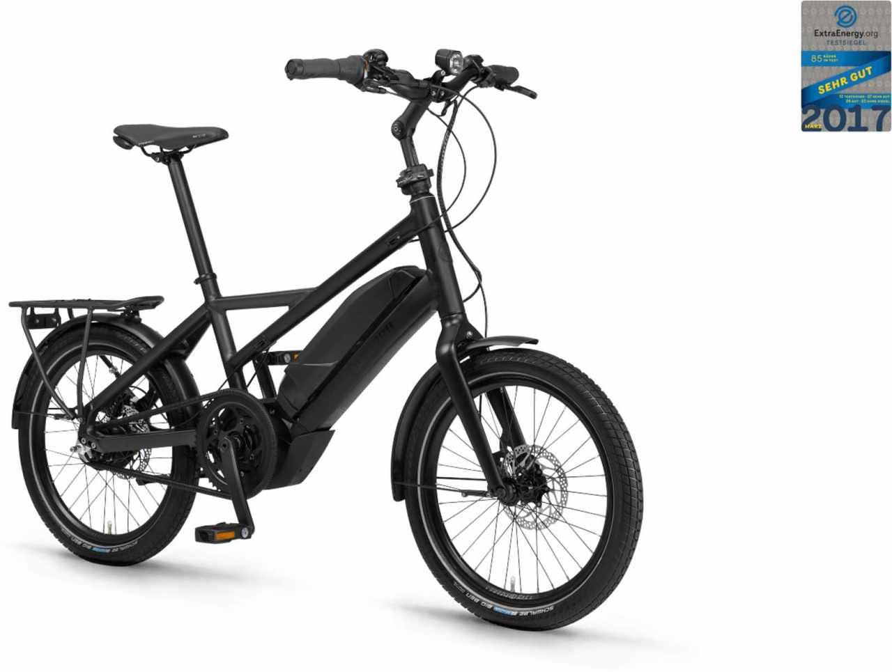 "Winora Radius Tour 500Wh 20"" schwarz/schiefer matt 2021 - E-Bike Kompaktrad"