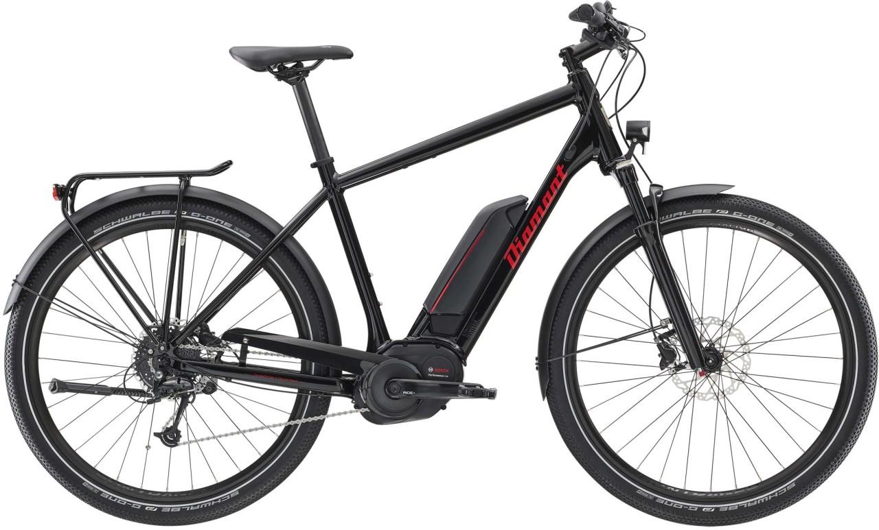 Diamant Elan+ HER Tiefschwarz 2020 - E-Bike Trekkingrad Herren