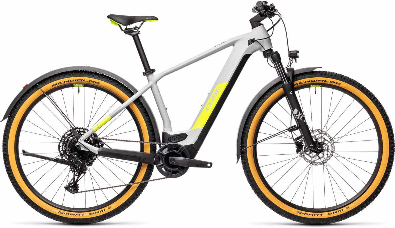 Cube Reaction Hybrid Pro 500 29 Allroad grey n yellow 2021 - E-Bike Hardtail Mountainbike