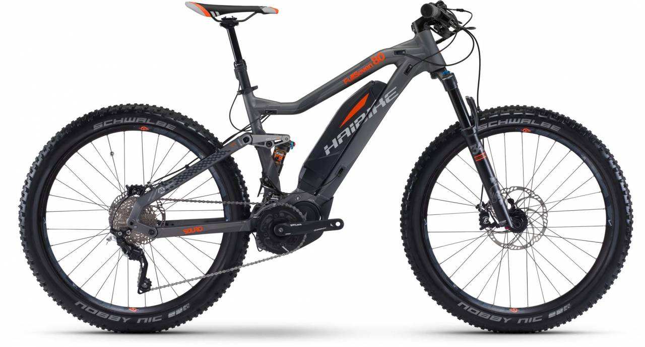 Haibike SDURO FullSeven 8.0 500Wh titan/silber/orange 2017 - E-Bike Fully Mountainbike