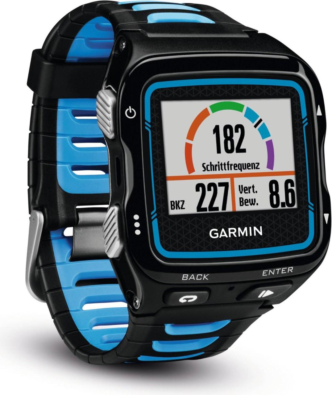 Garmin Forerunner® 920XT Blau/Schwarz mit Herzfrequenzsensor HRM-Run™