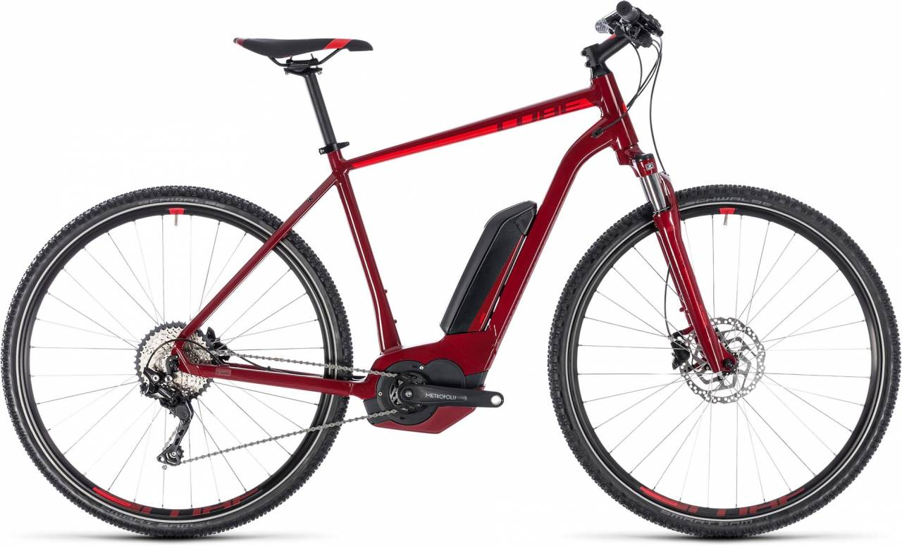 Cube Cross Hybrid Pro 400 darkred n red 2018 - Herren E-Bike Crossrad