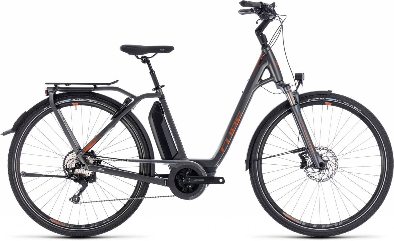 Cube Town Hybrid Sport Pro 400 grey n copper 2018 - Tiefeinsteiger E-Bike Trekkingrad