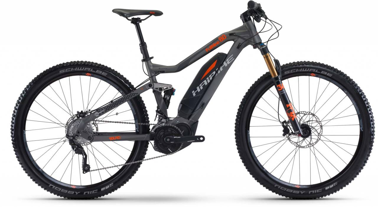 Haibike SDURO FullNine 8.0 500Wh titan/silber/orange 2017 - E-Bike Fully Mountainbike