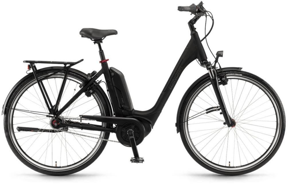 """Winora Tria N7f 400Wh 28"""" FL schwarz matt 2018 - Tiefeinsteiger E-Bike Trekkingrad"""