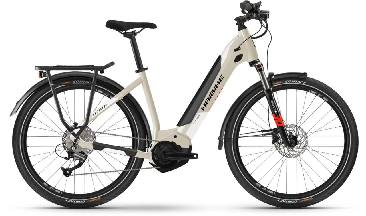 Haibike Trekking 4 i500Wh desert/white 2021 - E-Bike Trekkingrad Tiefeinsteiger